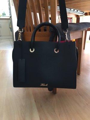 Karl Lagerfeld Borsa shopper nero-rosso lampone Pelle