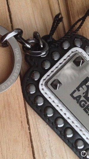 Karl Lagerfeld Porte-clés noir-argenté