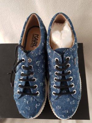 Karl Lagerfeld Mocassins bleuet coton