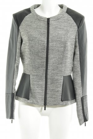 a864fcc61 Karl Lagerfeld Faux Leather Jacket weave pattern biker look