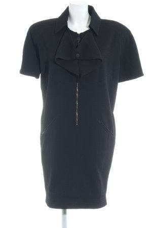 Karl Lagerfeld Kurzarmkleid schwarz extravaganter Stil