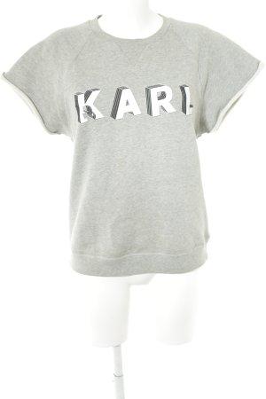 Karl Lagerfeld Kurzarmpullover grau-weiß Casual-Look