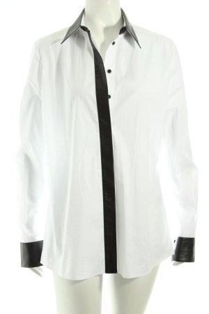 Karl Lagerfeld Langarm-Bluse weiß-schwarz Business-Look