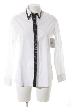 Karl Lagerfeld Langarmhemd weiß-schwarz Elegant