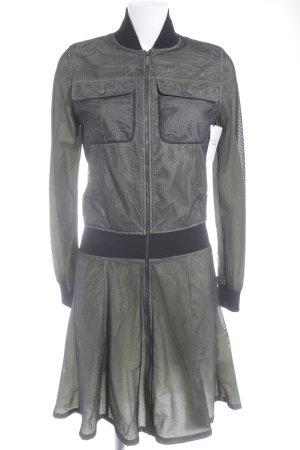 Karl Lagerfeld Langarmkleid blassgrün-schwarz extravaganter Stil