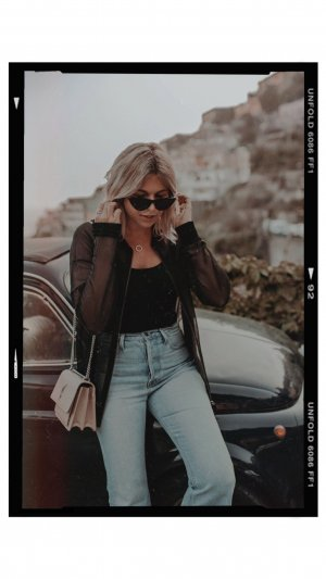 Karl Lagerfeld Lange Jacke schwarz Street-Fashion-Look