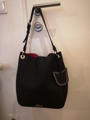 Karl Lagerfeld Shoulder Bag black leather