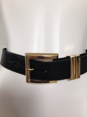 Karl Lagerfeld Belt black-gold-colored leather