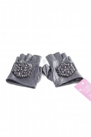 Karl Lagerfeld Leather Gloves black street-fashion look