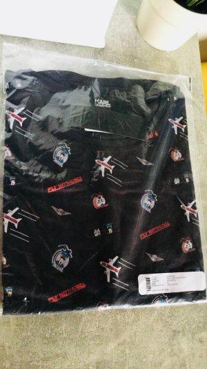 Karl Lagerfeld M Fly with Karl T-Shirt Urlaub Pilot Katze NP 79€