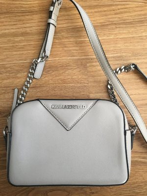 Karl Lagerfeld Borsetta mini argento-bianco sporco