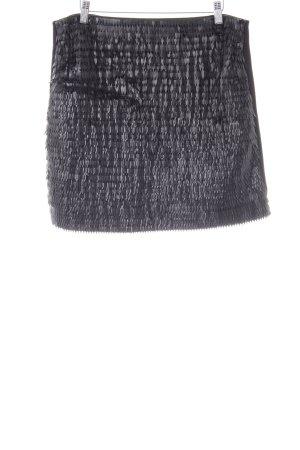 Karl Lagerfeld Minirock schwarz extravaganter Stil