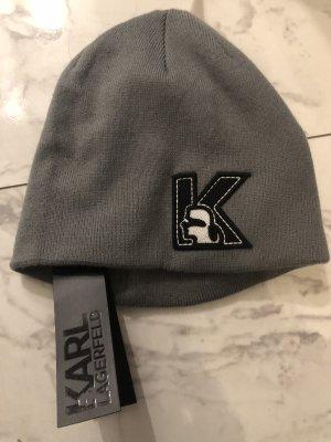 Karl Lagerfeld Cappello in tessuto grigio chiaro-grigio