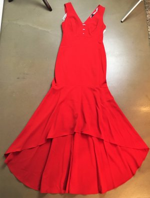 * KARL LAGERFELD * NEU ! MAXI KLEID festlich Mermaid Dress Abendkleid rot Gr 34 XS S