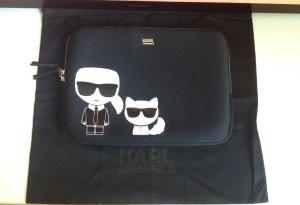 Karl Lagerfeld Sac postier noir fibre textile