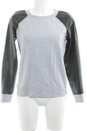 Karl Lagerfeld Oversized Pullover schwarz-hellgrau Casual-Look