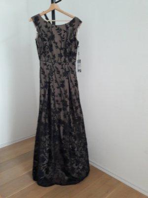 KARL LAGERFELD Paris Abendkleid Ballkleid schwarz/beige Gr. 2 (ca. 34/36)