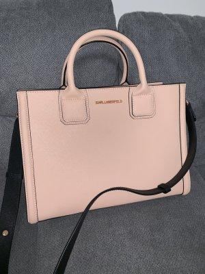 Karl Lagerfeld Handbag rose-gold-coloured-pink leather