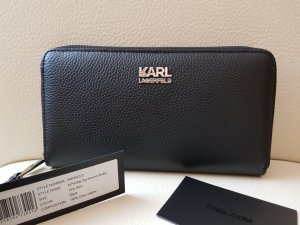 Karl Lagerfeld Wallet black-silver-colored leather