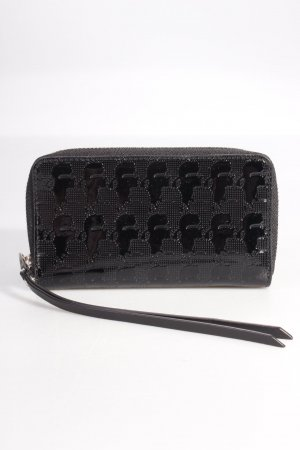 Karl Lagerfeld Portemonnaie Kache Zip-Around Wallet Black