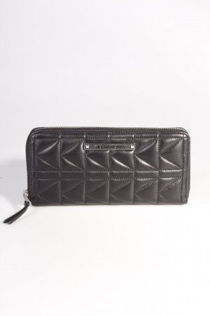 Karl Lagerfeld Portemonnaie Quilted Wallet Black Silver