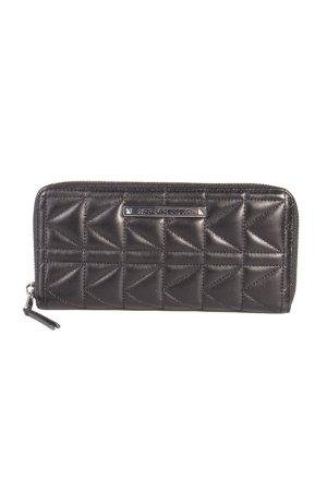 Karl Lagerfeld Portemonnaie Quilted Wallet Black Silver II