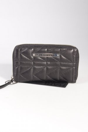 Karl Lagerfeld Portemonnaie Quilted Zip-Around Wallet Black