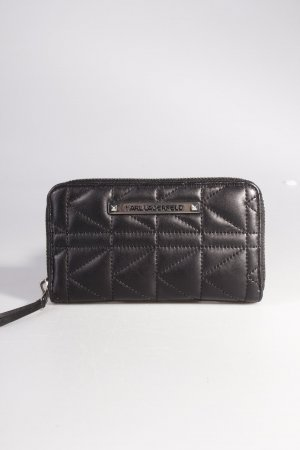 Karl Lagerfeld Portemonnaie Quilted Zip-Around Wallet Black III