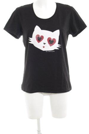 Karl Lagerfeld Print-Shirt Motivdruck Casual-Look