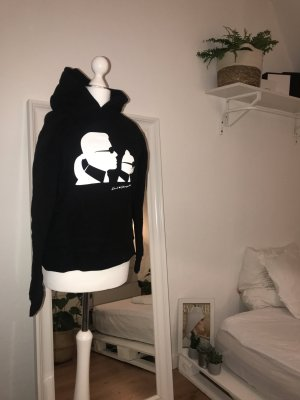 Karl Lagerfeld Maglione con cappuccio nero-bianco