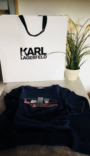 Karl Lagerfeld Pullover Blau M Fly with Karl neu NP 165€