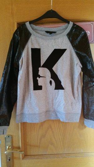 Karl Lagerfeld Pullover mit Lederärmeln