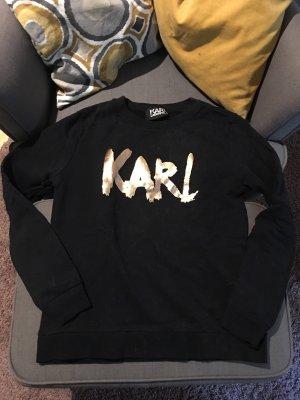 Karl Lagerfeld Pullover schwarz Rose Gold S Luxus