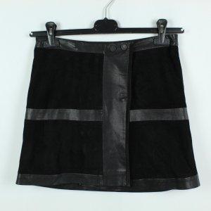 Karl Lagerfeld Falda de cuero negro Cuero