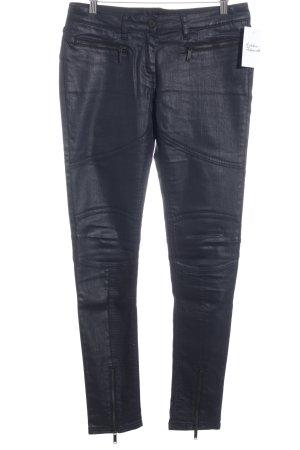 Karl Lagerfeld Röhrenhose schwarz Brit-Look