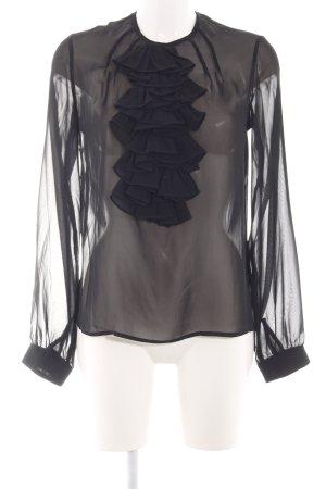 Karl Lagerfeld Rüschen-Bluse schwarz Elegant