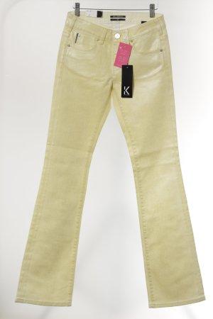 Karl Lagerfeld Schlaghose blassgelb extravaganter Stil