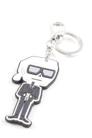 Karl Lagerfeld Schlüsselanhänger schwarz-wollweiß extravaganter Stil