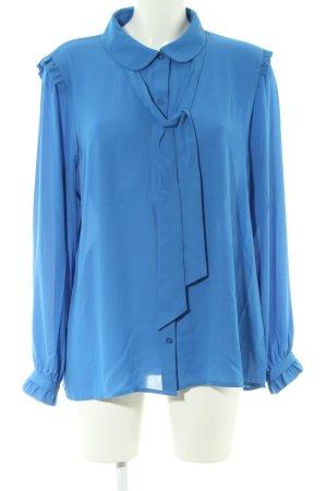 Karl Lagerfeld Blusa con lazo azul estilo «business»
