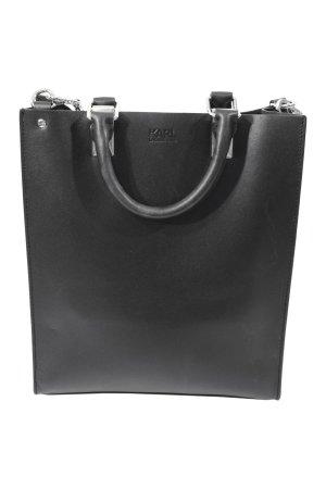 Karl Lagerfeld Schultertasche in Schwarz aus Leder