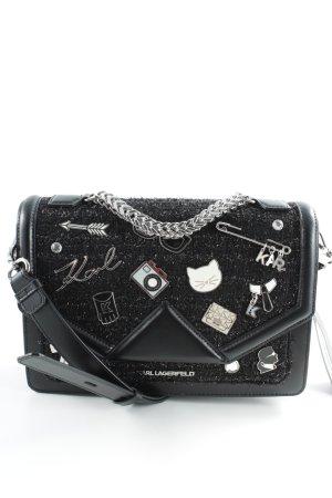 "Karl Lagerfeld Schultertasche ""K/Klassik Pins Shoulderbag Black"""