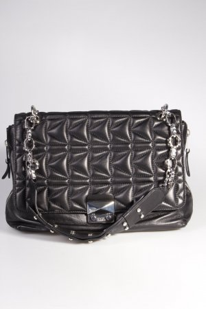 Karl Lagerfeld Schultertasche Quilted Flap Over Lambskin Shoulderbag Black