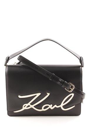 Karl Lagerfeld Schultertasche schwarz Casual-Look