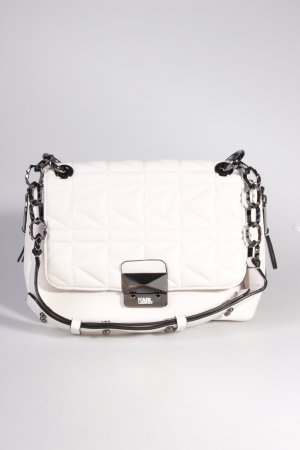 Karl Lagerfeld Schultertasche Shoulder Bag Quilted Lambskin White