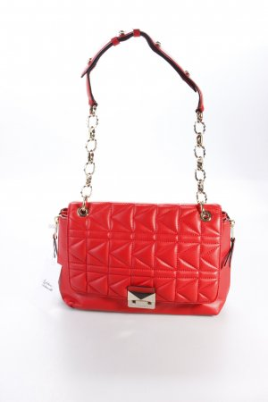 Karl Lagerfeld Schultertasche Shoulderbag Quilted Lambskin Large Red/Gold