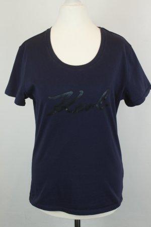 "Karl Lagerfeld Shirt T-Shirt Gr. S dunkelblau mit Logo ""Karl"""