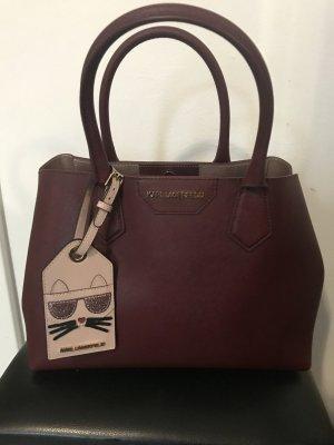 Karl Lagerfeld Borsa shopper marrone-rosso