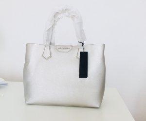 Karl Lagerfeld shopper Tasche silber