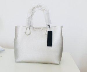 Karl Lagerfeld shopper Tasche silber grau