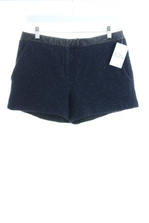 Karl Lagerfeld Shorts dunkelblau-schwarz Glitzer-Optik
